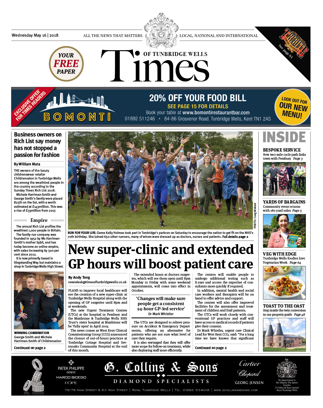 Read the Times of Tunbridge Wells 16th May 2018