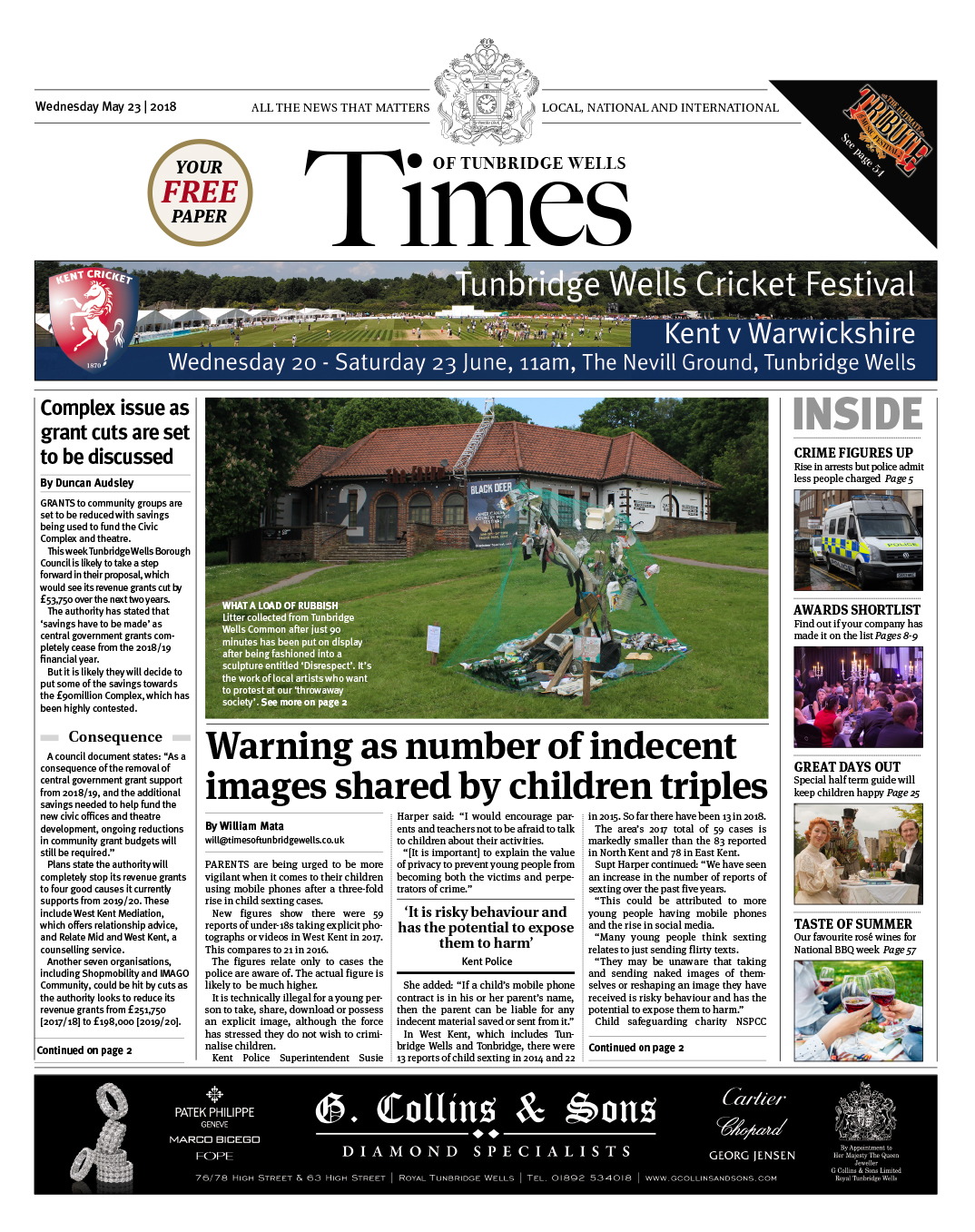Read the Times of Tunbridge Wells 23rd May 2018