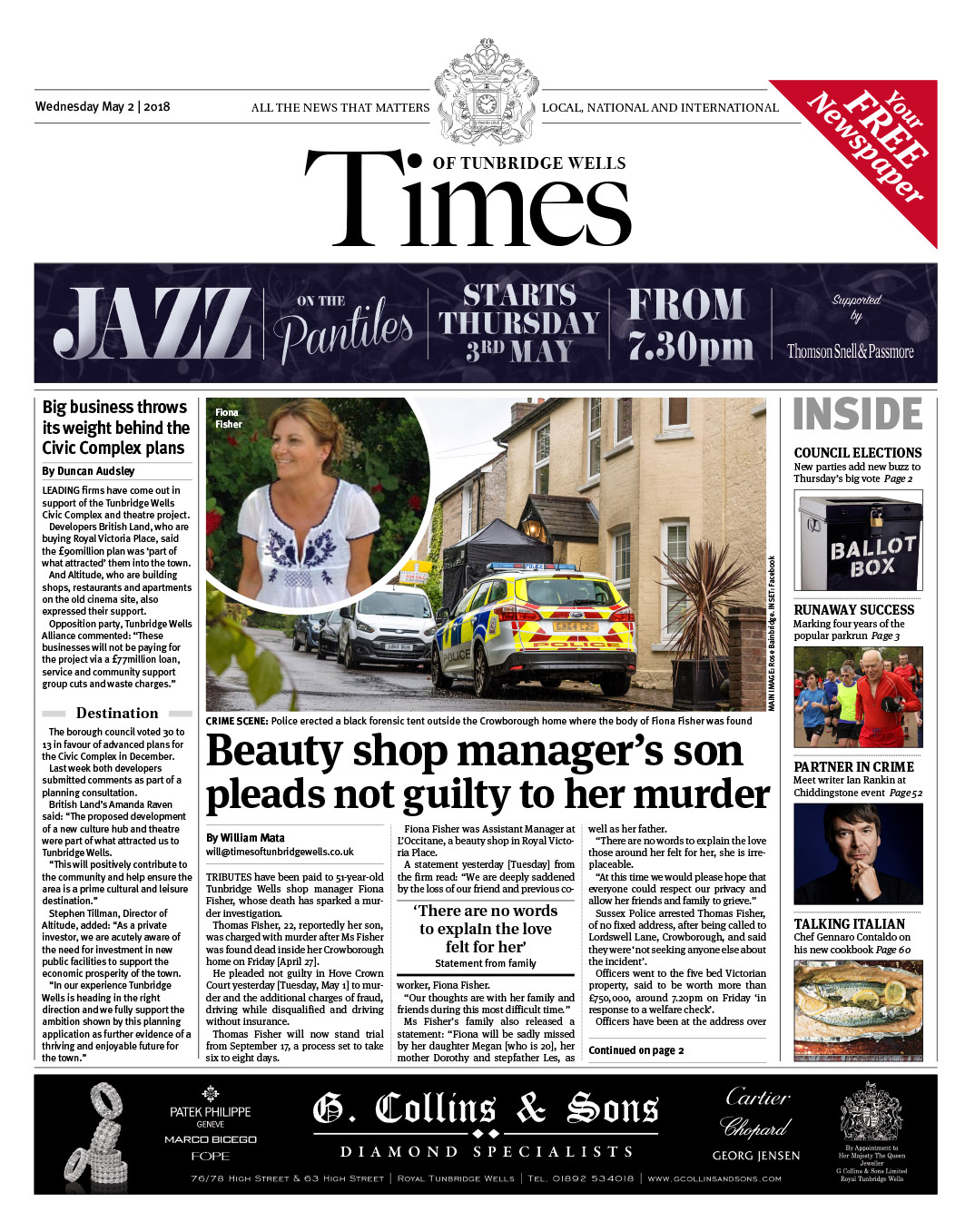 Read the Times of Tunbridge Wells 2nd May 2018