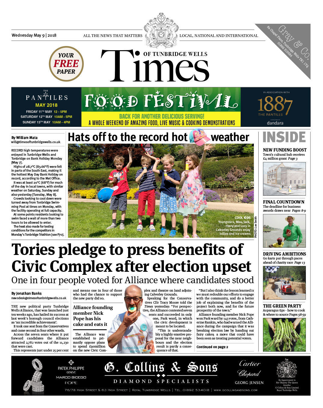 Read the Times of Tunbridge Wells 9th May 2018