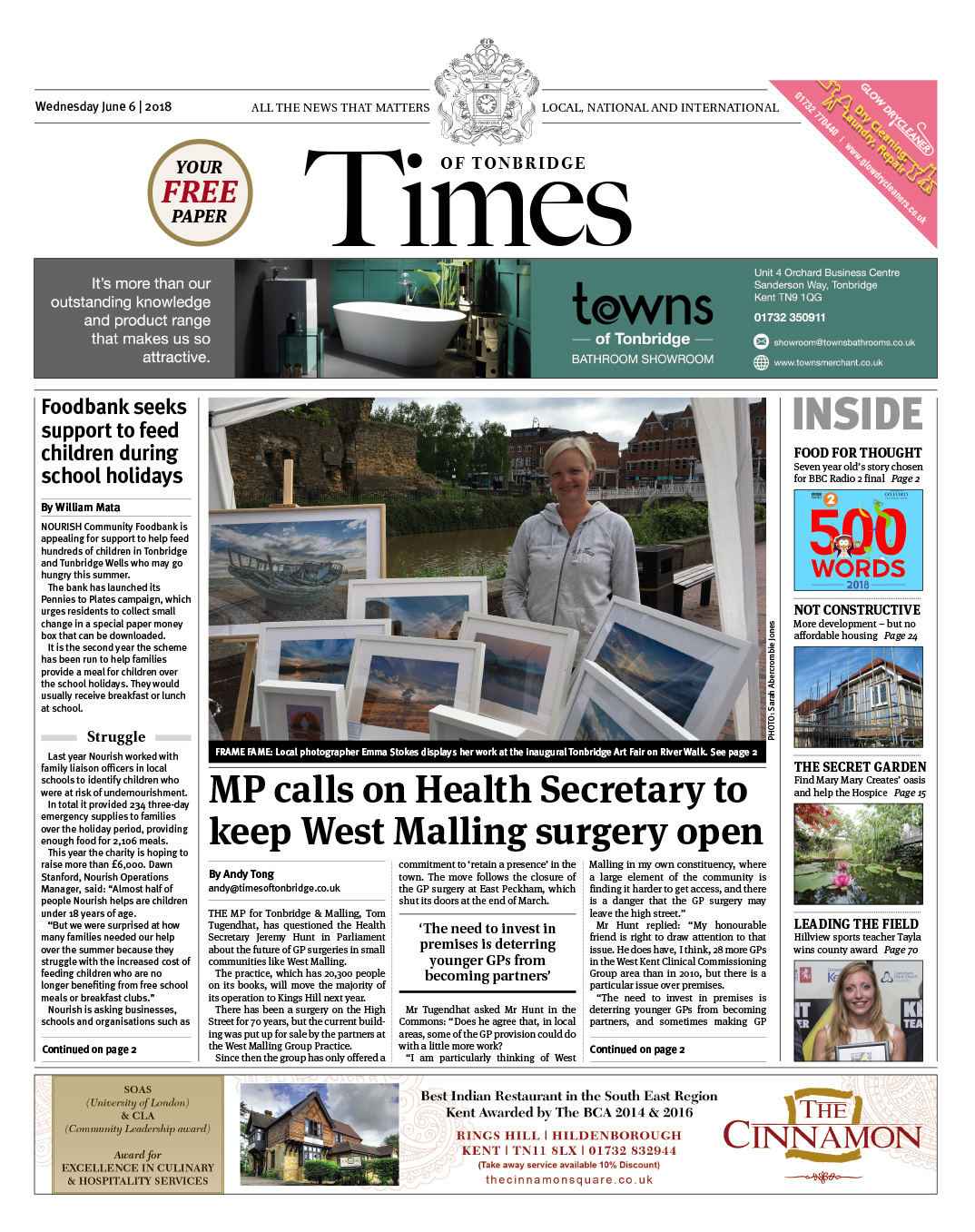 Read the Times of Tonbridge 6th June 2018