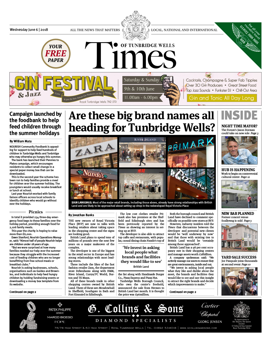 Read the Times of Tunbridge Wells 6th June 2018